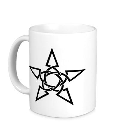 Керамическая кружка Кельтская тату-звезда