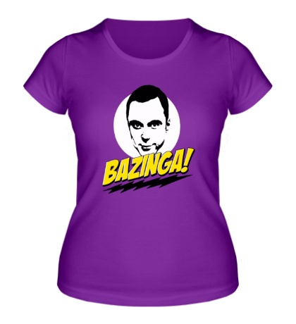 Женская футболка Bazinga: Шелдон