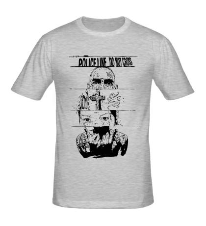 Мужская футболка Police line do not cross