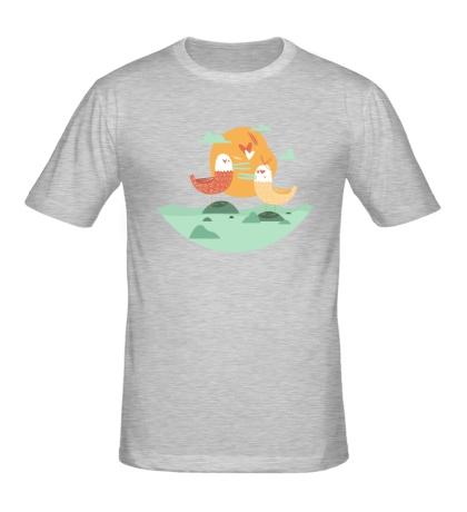Мужская футболка Птицы-голубки
