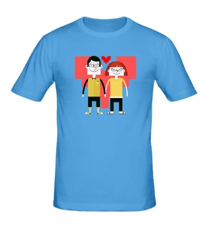 Мужская футболка Парочка программистов