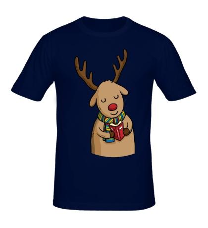 Мужская футболка Оленюша с подарком