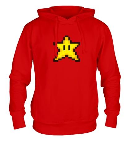 Толстовка с капюшоном Пиксельная звездочка