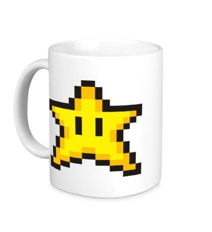Керамическая кружка Пиксельная звездочка