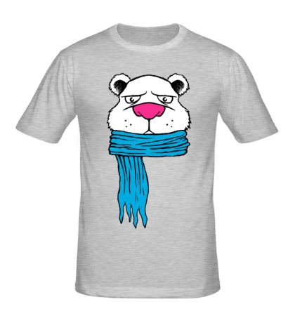Мужская футболка Медведь в шарфе