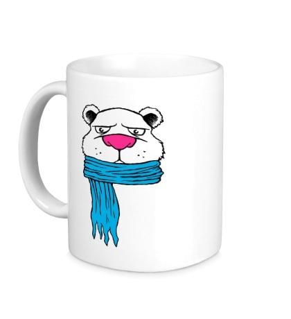 Керамическая кружка Медведь в шарфе