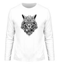 Мужской лонгслив Индейский волк