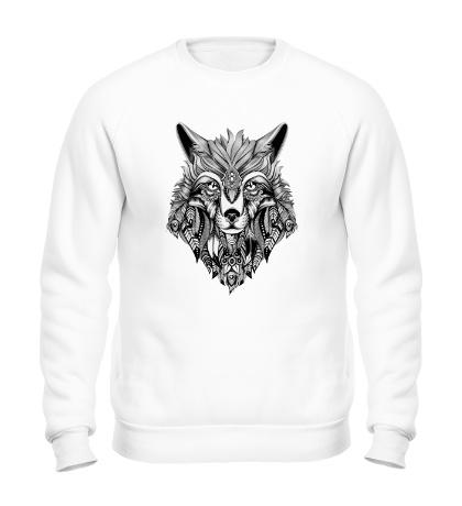 Свитшот Индейский волк