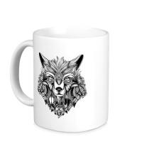 Керамическая кружка Индейский волк
