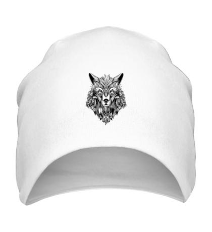 Шапка Индейский волк