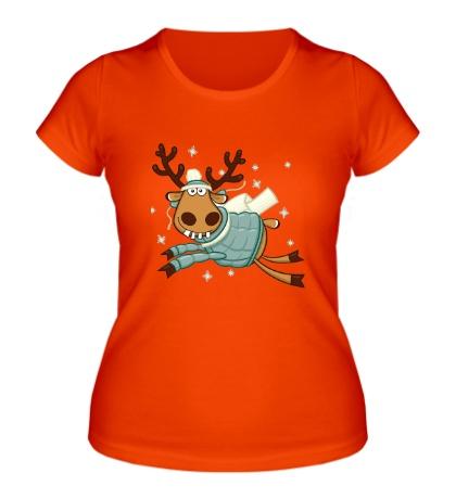 Женская футболка Подслушано: Летящий олень