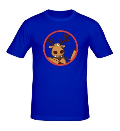Мужская футболка Подслушано: Олень, добрый дент