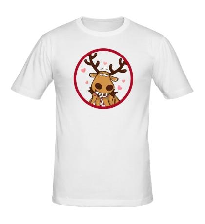 Мужская футболка Подслушано: Влюбленный олень