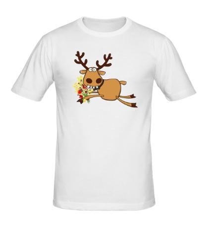 Мужская футболка Подслушано: Олень, добрый день