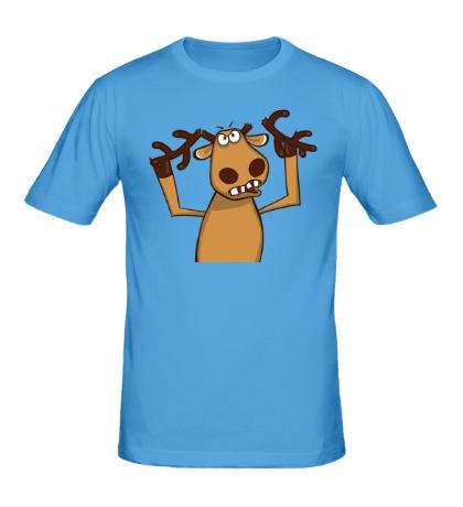 Мужская футболка Подслушано: Олень без рогов