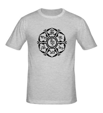 Мужская футболка Мантра: тело, речь, разум