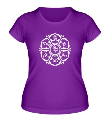 Женская футболка Мантра: тело, речь, разум