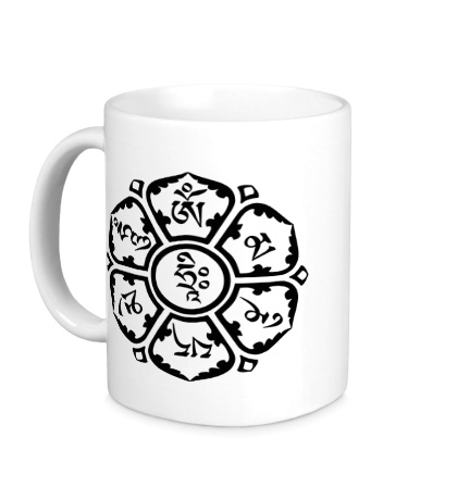 Керамическая кружка Мантра: тело, речь, разум