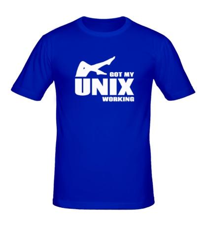 Мужская футболка Got my unix working