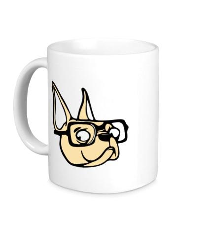 Керамическая кружка Пёс в очках