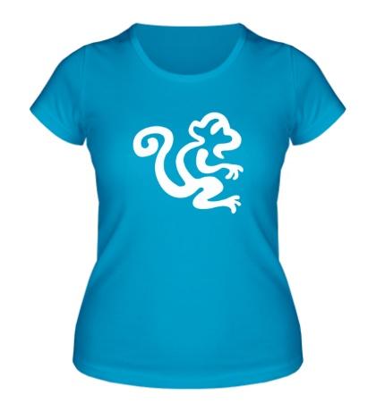Женская футболка Силуэт обезьяны