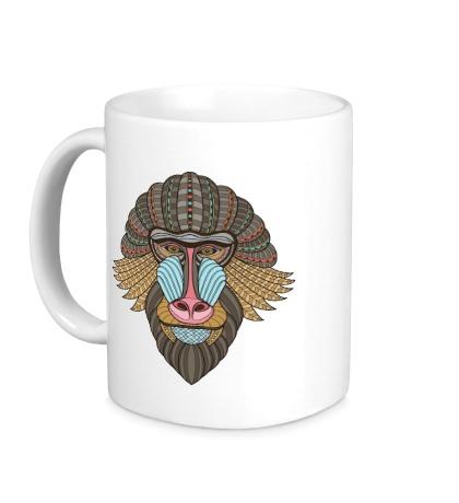 Керамическая кружка Маска обезьяны