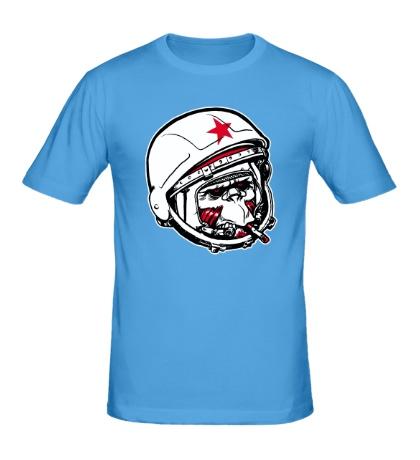 Мужская футболка Обезьяна-космонавт