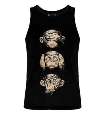 Мужская майка Символ трех обезьян