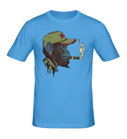 Мужская футболка Шимпанзе партизан