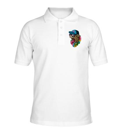 Рубашка поло Кот в наушниках