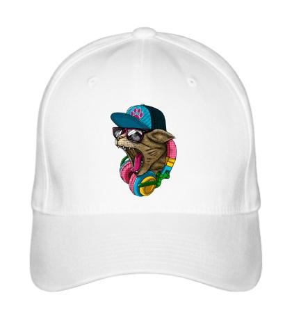 Бейсболка Кот в наушниках