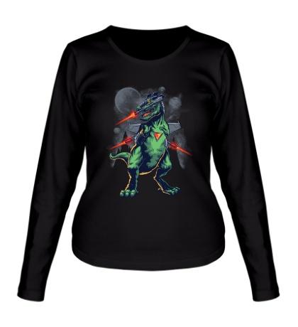 Женский лонгслив Динозавр из будущего