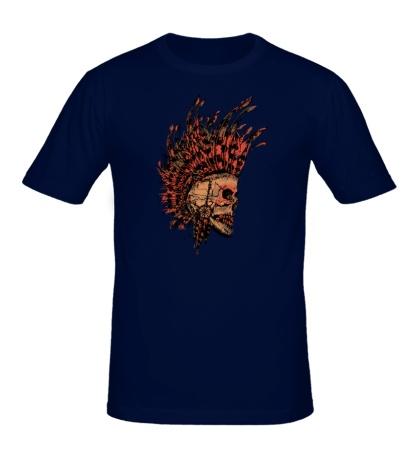 Мужская футболка Череп Индейца
