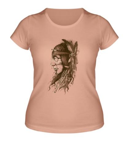 Женская футболка Дикий индеец
