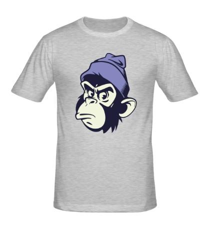 Мужская футболка Обезьяна в шапке