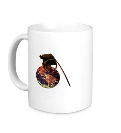 Керамическая кружка Мировая граната космоса