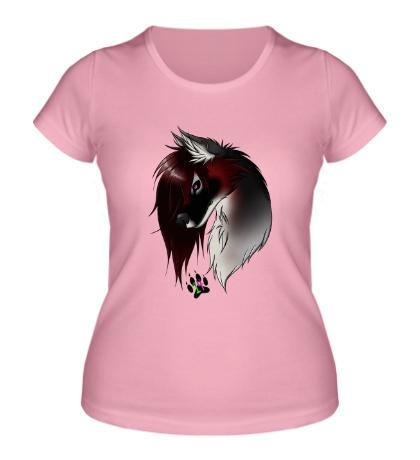 Женская футболка Valentine Wolf