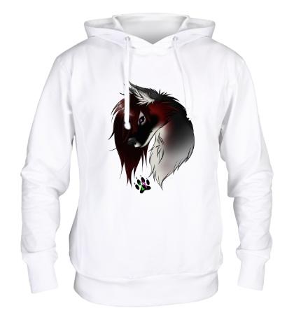 Толстовка с капюшоном Valentine Wolf