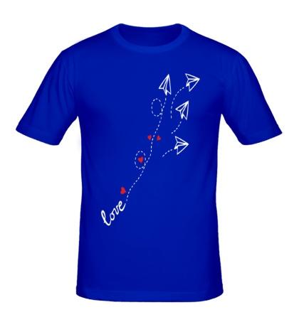 Мужская футболка Любовные письма