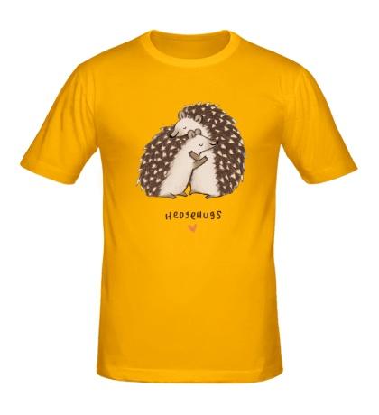 Мужская футболка «Ёжики обнимаются»