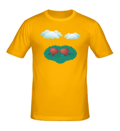 Мужская футболка «Сердца в облаках»