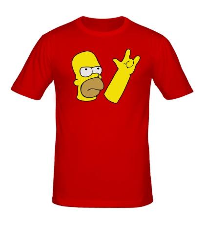 Мужская футболка Гомер Хард Рок