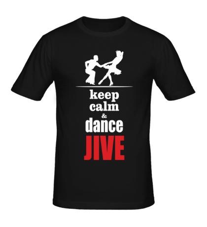 Мужская футболка Keep calm & dance JIVE