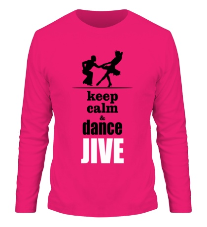 Мужской лонгслив Keep calm & dance JIVE