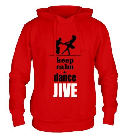 Толстовка с капюшоном Keep calm & dance JIVE