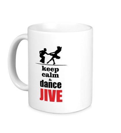 Керамическая кружка Keep calm & dance JIVE