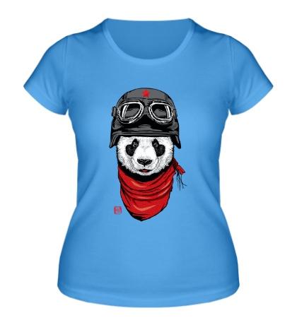 Женская футболка Панда летчик