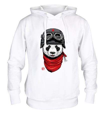 Толстовка с капюшоном Панда летчик