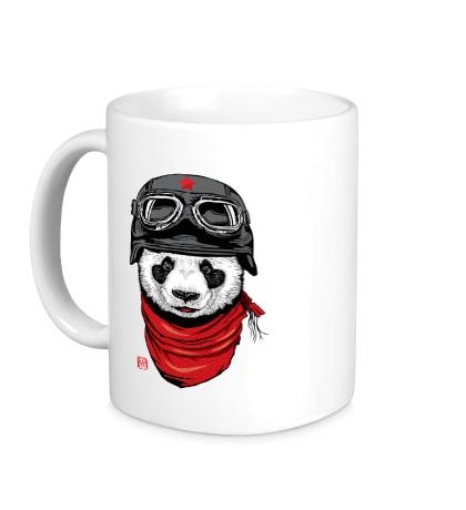 Керамическая кружка Панда летчик