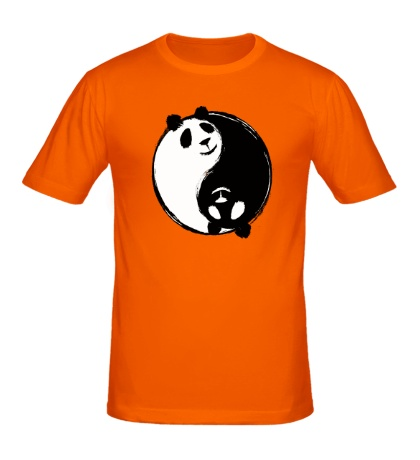 Мужская футболка Панда Инь Ян